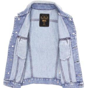 DIESEL denim vest jean jacket XS NWT
